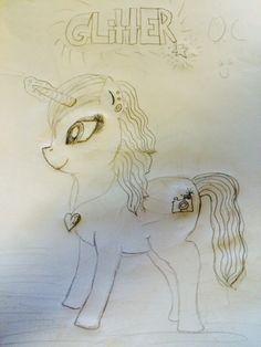 Chubby unicorn named Glitter