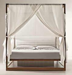 Chi Wing Lo canopy solid walnut bed