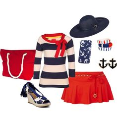 """""""Nautical Fashion"""" by shelby-sharp-oubre on Polyvore"""