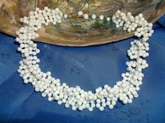 Woven Beaded Choker Vintage 1940's Necklace by MyLifeIsAHighway