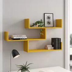 Wall shelves & hanging shelves – Home Decoration Ideas Unique Wall Shelves, Cube Shelves, Wall Shelves Design, Room Shelves, Hanging Shelves, Display Shelves, Floating Shelves, Wall Shelving, Wall Rack Design