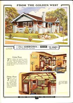 Sears Osborn, as seen in the 1919 catalog. This is similar to our bungalow