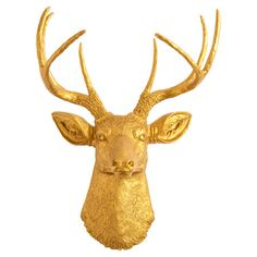 Showcasing a gold-hued deer head silhouette, this eye-catching wall decor is perfect displayed above your living room mantel or entryway console.