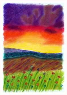 Sunset Hills by CrittersPaperArt on Etsy