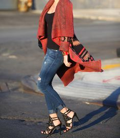 Tribal by Brooklyn Blonde. Love love love the shoes mixed with the sweater!