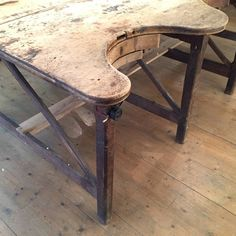 1920s Vintage Goldsmith Work Table | From a unique collection of antique and modern industrial and work tables at https://www.1stdibs.com/furniture/tables/industrial-work-tables/