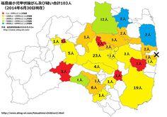 福島県小児甲状腺がん市町村分類2014年6月30日