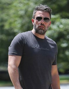 Ben Affleck is a silver fox already!! The world is a better place