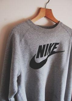 6a1c744ee43c74 Sweater  nike grey grey nike jacket nike sweatshirt gray hoodie gray and  black shirt sweatshirt nike