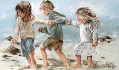 Walking on the beach maria