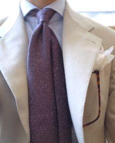 "nicolaradano: "" Maslowso is wearing ""Terra Murata"" 3Fold unlined tie. Shop now: http://spaccaneapolis.bigcartel.com/product/terra-murata """