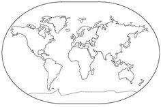Resultado de imagem para mapa mundi para colorir