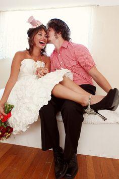 tea length wedding dress!