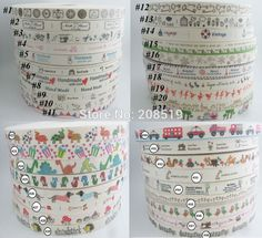 """CR0004 3/5"""" Printed cotton Ribbons 24Yards handmade Craft Ribbon 100% Cotton Clothes Label Garment accessories"""