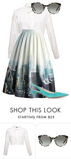 """""""New york 50's Chic"""" by flashinglights-397 on Polyvore featuring Tory Burch, Chicwish and Prada"""