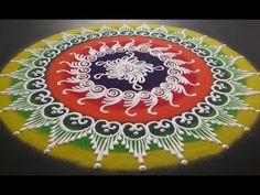 Beautiful Sanskar Bharati Rangoli Design - YouTube Easy Rangoli Designs Videos, Rangoli Designs Simple Diwali, Indian Rangoli Designs, Rangoli Designs Latest, Rangoli Designs Flower, Free Hand Rangoli Design, Rangoli Border Designs, Rangoli Patterns, Rangoli Ideas