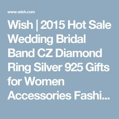 Wish   2015 Hot Sale Wedding Bridal Band CZ Diamond Ring Silver 925 Gifts for Women Accessories Fashion Brand White Ulove For Couples Wedding Ring