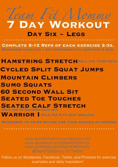 TFM 7DAY WORKOUT DAY SIX LEGS