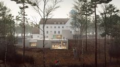 Transborder Studio's Holocaust study centre extension will be embedded into hill