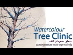 "Join Angela Fehr live for a painting session focused on creating better trees in watercolour. I'm celebrating the launch of a new course, ""Watercolour Tree C..."