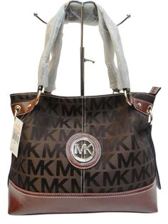 cca5dc1a27fb46 Michael Kors Outlet Grayson Jet Set Monogram Large Tote Bags /Coffee and  Brown on the bottom