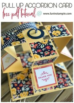 The Pull Up Accordion Card - Luvin Stampin #luvinstampin #stampinup #3Dcard