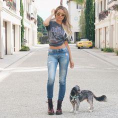 Desii perkins / jeans / denim / Dr martens /old t-shirt