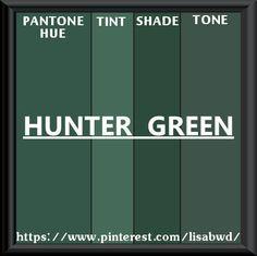 Pantone Seasonal Color Swatch Hunter Green