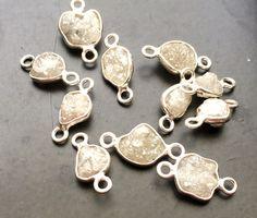 WHOLESALE 10 Pcs Light White Grey Rough Diamond by gemsforjewels