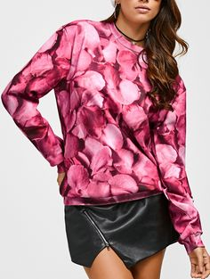 Rose Print Design Streetwear Style Flowers Sweatshirt for Women. Cheap Clothes  OnlineOnline Clothing StoresPrinted SweatshirtsCheap HoodiesStreetwear ... c4ee4a0af