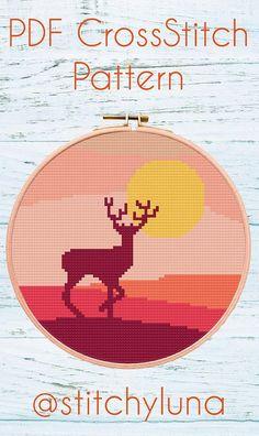 Modern Cross Stitch Pattern Embroidery Pattern Hoop Art