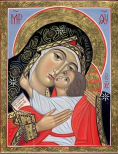 Theotokos by Cristina Capella Religious Images, Religious Art, Typical Russian, Tree Icon, Queen Of Heaven, Mary And Jesus, Russian Orthodox, Holy Mary, Madonna And Child