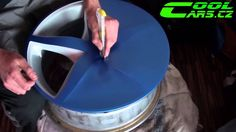 How-to by Wrapping Rims in Matte Blue Vinyl COLORCHANGE ( Polep alu kol ...