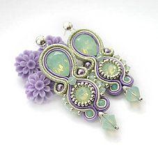 Náušnice - Pastelové šujtášové náušnice /zapínanie striebro Ag 925/ - 6827374_ Soutache Earrings, Dangle Earrings, Shibori, Jewelry Art, Jewelry Design, Button Crafts, Beaded Embroidery, Turquoise Bracelet, Jewelery
