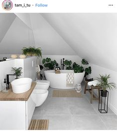 Modern Bohemian Home Interior Decor Ideas: Are you ready to learn with some of the inspiring and incredible form of the Bohemian decor ideas for the home beauty? White Bathroom Decor, Bathroom Interior, White Bathrooms, Home Decor Trends, Home Decor Inspiration, Decor Ideas, Art Ideas, Design Inspiration, Design Ideas