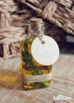 www.kamalion.com.mx - Recuerdos / Favors / Olive oil / Aceite de oliva / Romero / Botellita / Corcho / Boda / Wedding / Detalles / Burlap / Mecate.