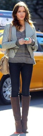 Cute fall outfit from #GossipGirl!