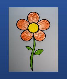 Flower 16 x 20 in. Canvas #LiteralPopArt #PopArt #Art #Flowers #Petals #Nature #Garden Organic #Green #GoingGreen #Tangerine #Orange #MichaelCrayola #2017