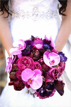 purple orchid bouquet   bridal bouquet   purple wedding ideas   #weddingchicks