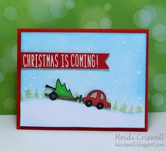 Lawn Fawn - Happy Trails, Snow Day, Milo's ABCs _ super and clever card by Heidi via Flickr - Photo Sharing!