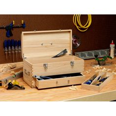 You'll love the Wooden Toolbox at Wayfair - Great Deals on all Storage & Housekeeping  products with Free Shipping on most stuff, even the big stuff.