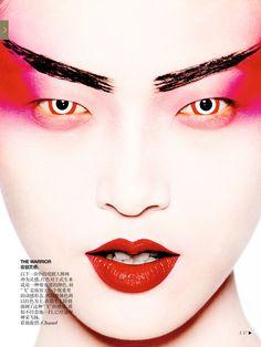 Model: Tian Yi (Fusion)Editorial: The Grand Masters Magazine: Vogue China, December 2013 Photographer: Mario Testino