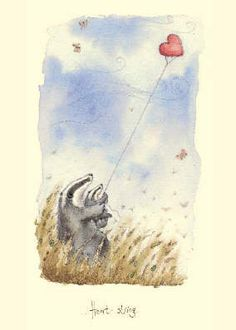 Fran Evans is one of our most popular artists. Illustration Art Dessin, Illustrations, Happy Pictures, Pretty Pictures, Baby Badger, Most Popular Artists, Animal Design, Pet Birds, Watercolor Art