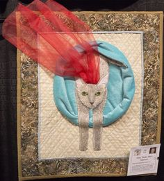 """Challenge Quilt: """"Abby Thinks She's Supercat"""" by Carole Lee.  2016 El Camino Quilters guild show (California)"""