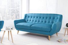 Sofa Scania I niebieska Invicta Interior Green Sofa, Colorful Furniture, Furniture, Sofa, Furnishings, Retro Sofa, Home Decor, Couch Styling, Canape Sofa
