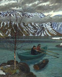 Painting by norwegian painter Nikolai Astrup: via A Polar Bear's Tale.