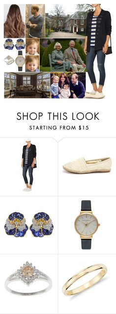 """""""Arriving back at Kensington Palace with the Cambridges and having Charles and Camilla over for afternoon tea and dinner"""" by charlottedebora ❤ liked on Polyvore featuring Autumn Cashmere, Dollhouse, Oscar Heyman, Olivia Burton and Blue Nile"""
