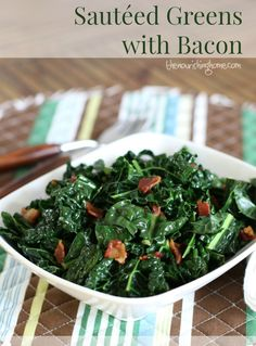Sautéed Greens with Bacon - The Nourishing Home