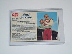 Card Pickers 1962 Post Cereal CFL #24 Russ Jackson Excellent Cereal, Jackson, Baseball Cards, Jackson Family, Corn Flakes, Breakfast Cereal