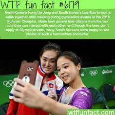North and South Korean Olympic participants take selfie TOGETHER! - WTF awesome fun facts